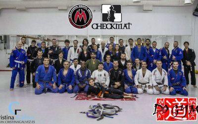 Graduación BJJ en Checkmat madrid bjj