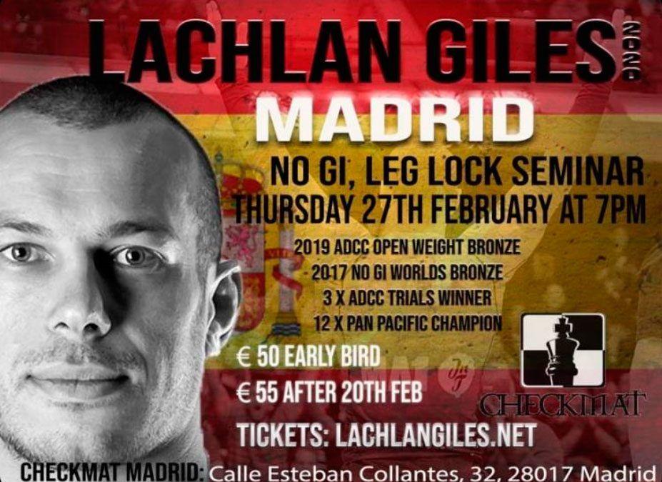 Lachan Giles en CheckMat Madrid